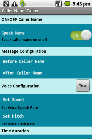 Caller Name Talker - screenshot