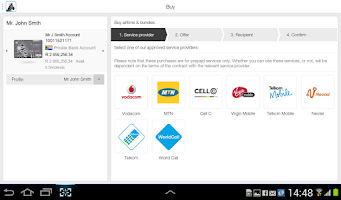 Screenshot of Investec
