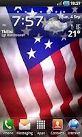 Screenshot of Animated American Flag LWP
