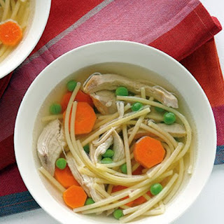 Six-Ingredient Chicken Noodle Soup.