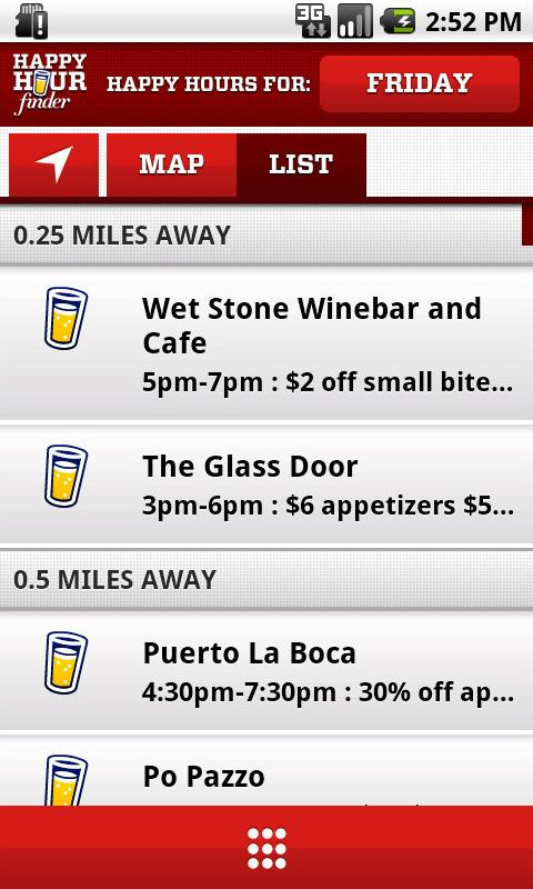 Happy Hour Finder- screenshot