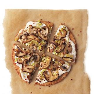 Mushroom-Leek Pizza