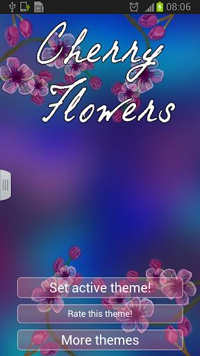 체리 꽃 키보드