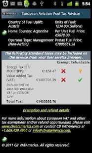 EuropeanAviationFuelTaxAdvisor- screenshot thumbnail