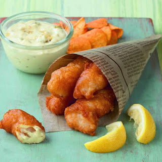 Beer and Vodka-Battered Fish Fingers