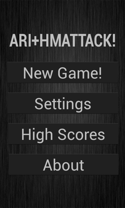 Arithmattack- screenshot