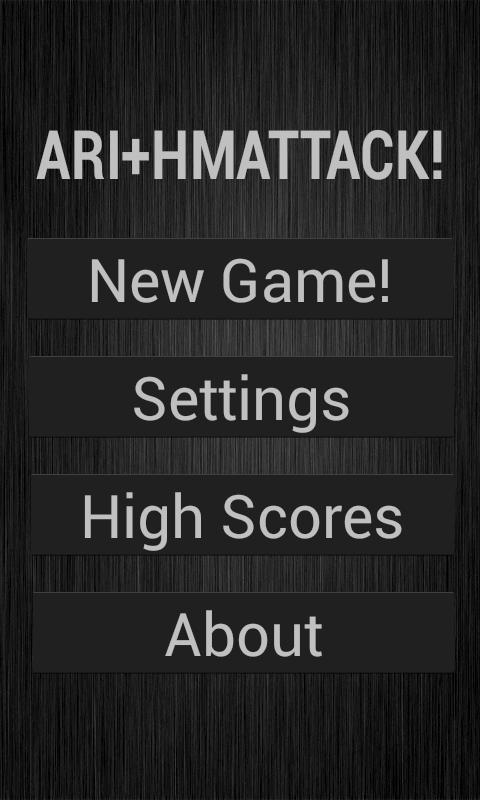 Arithmattack - screenshot