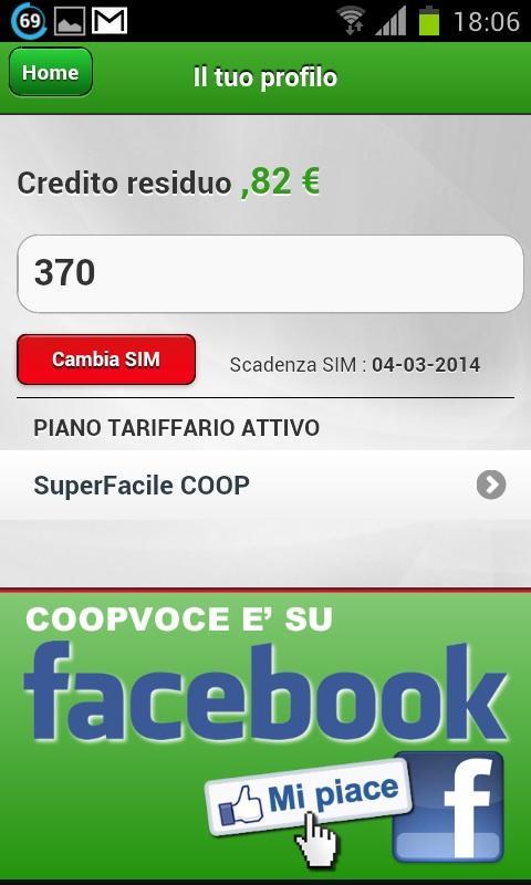 CoopVoce- screenshot