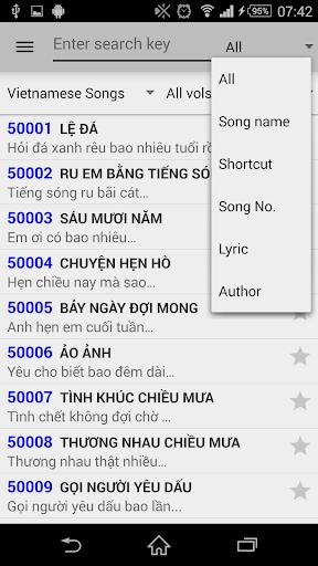 Karaoke Vietnam List