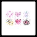 メール素材 - 宝石(ハート・きらきら) icon