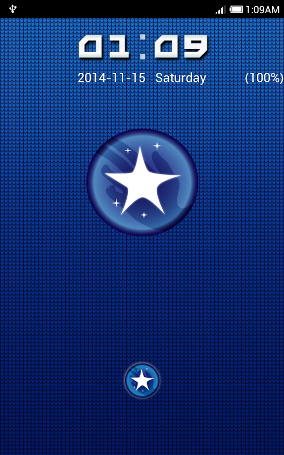 Blue Ring Go Locker Theme - screenshot