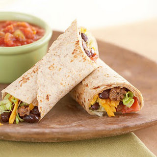 Beef and Black Bean Wraps.