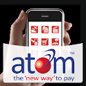 atom mobile application. logo