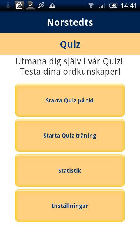 Norstedts svenska quiz- screenshot