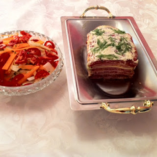 Cold Cuts Terrine with Fennel and Carrots Salad.
