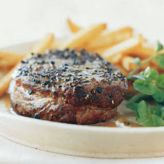 Pan-Seared Steak Au Poivre.