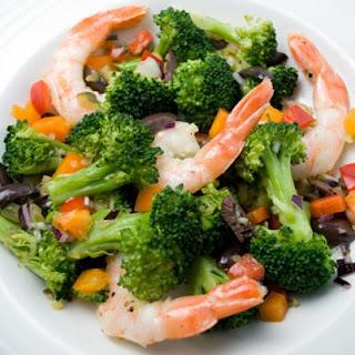 Spanish Broccoli and Prawn Salad