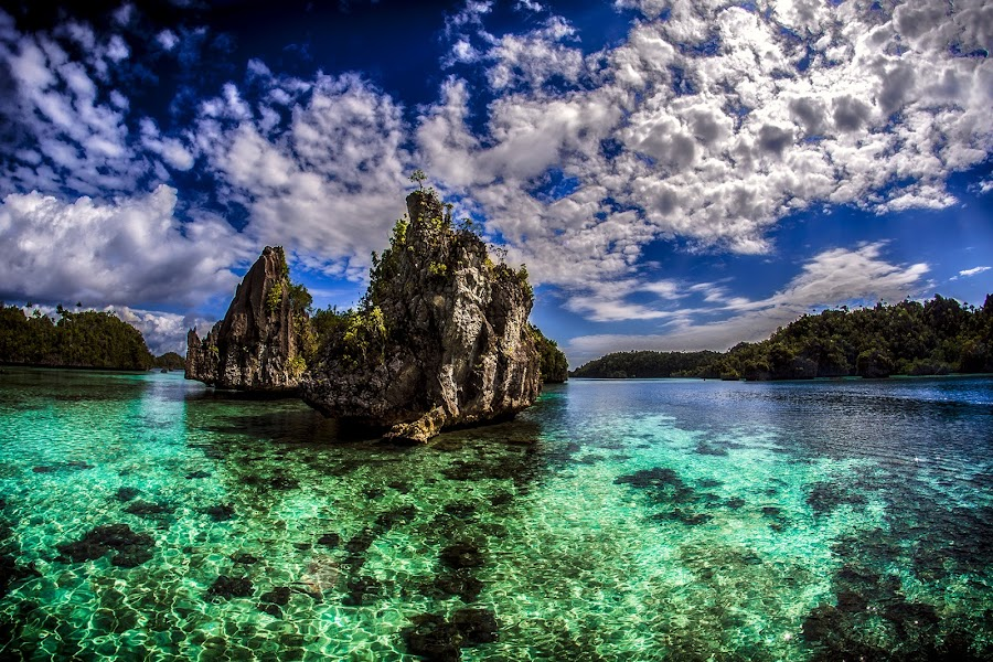 Clearly by Indrawaty Arifin - Landscapes Cloud Formations ( water, noon, cloudscape, karst, island,  )