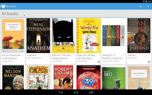 Google Play Livres - screenshot thumbnail
