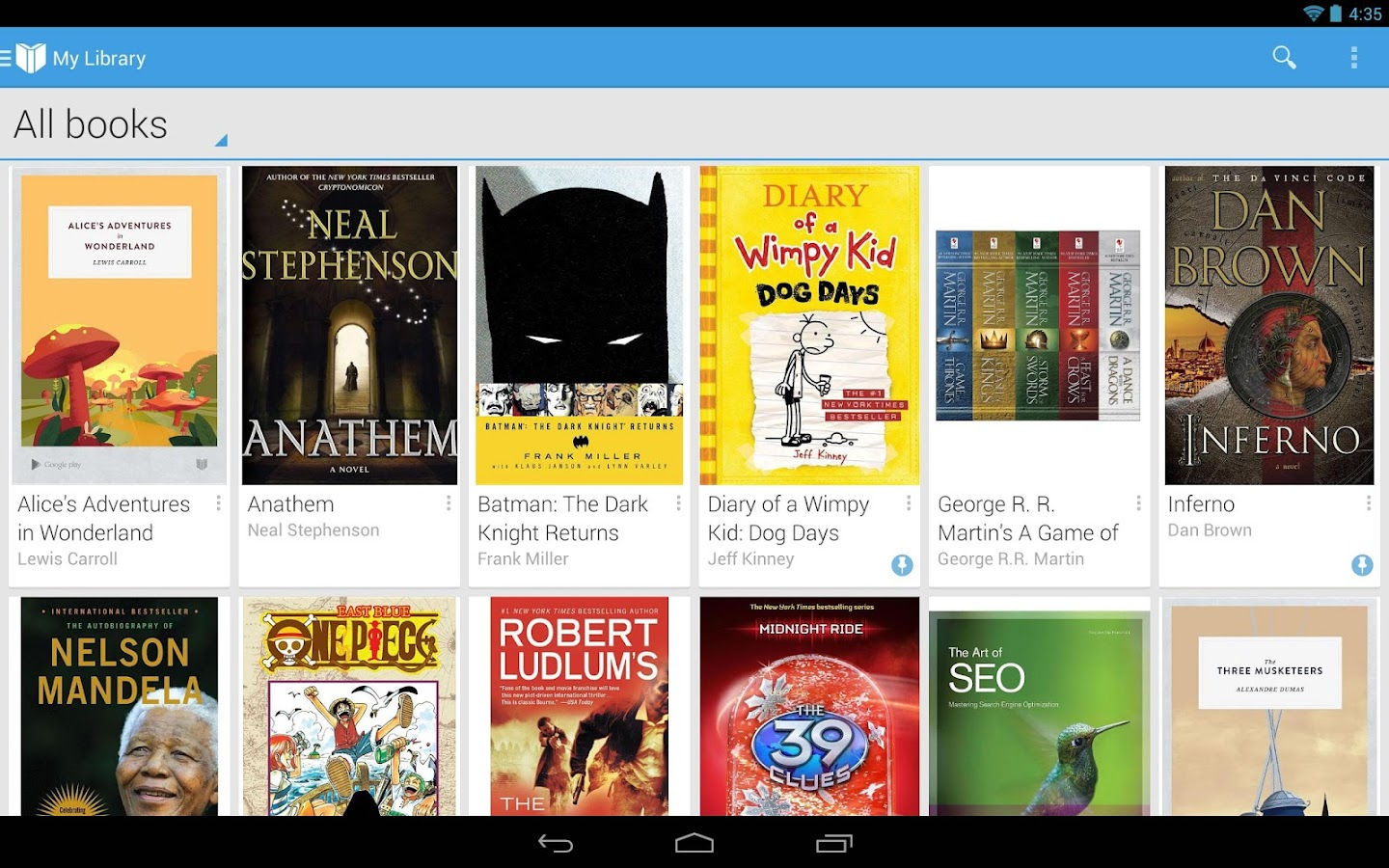 Google Play Livres - screenshot