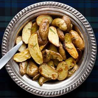 Roasted Fingerling Potatoes with Brown Butter and Rosemary.
