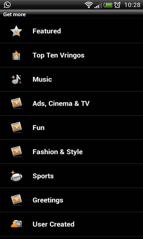 Vringo: Video Ringtones - screenshot