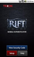 Screenshot of RIFT Auth