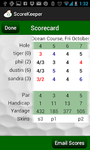 Golf Score Central ScoreKeeper- screenshot thumbnail