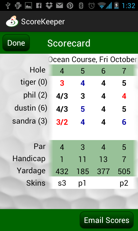 Golf Score Central ScoreKeeper- screenshot