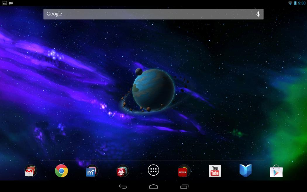 Andromeda HD 3D Live Wallpaper - screenshot