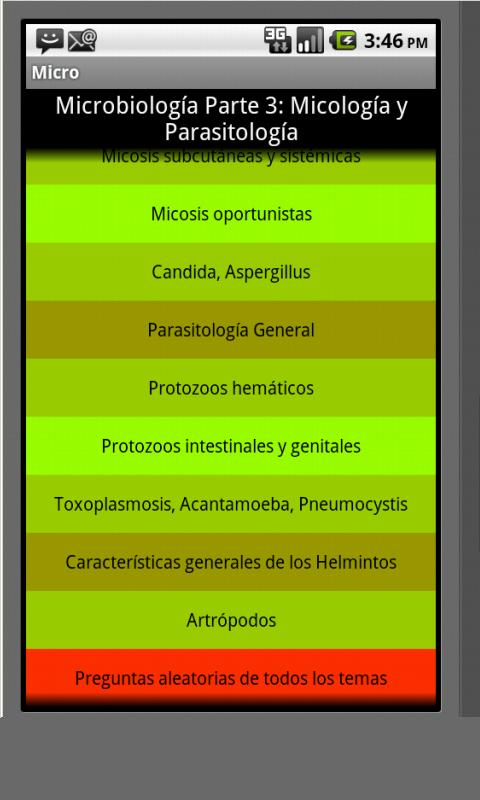Micologia y Parasitologia - screenshot