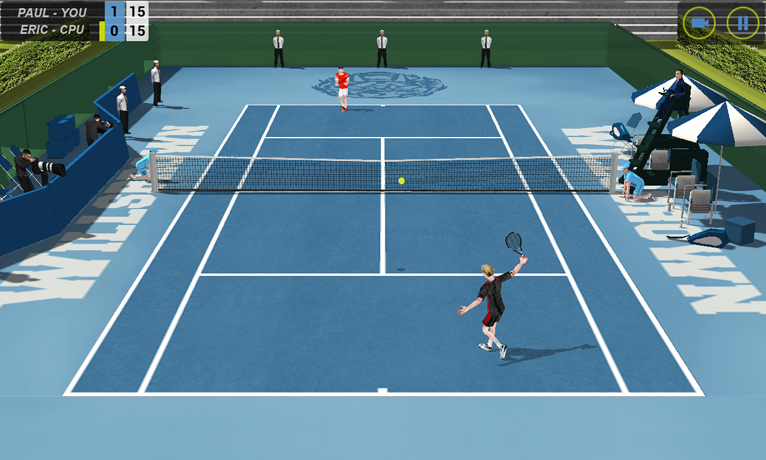 Flick Tennis - screenshot