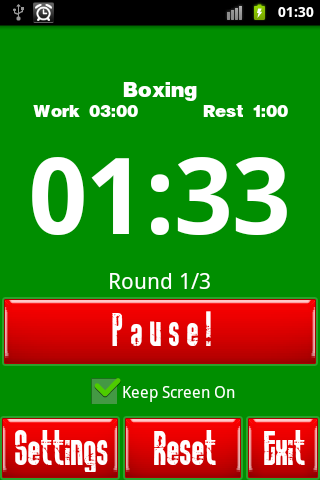 Boxing Interval Timer - screenshot