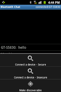 Bluetooth Chat Simple - screenshot thumbnail