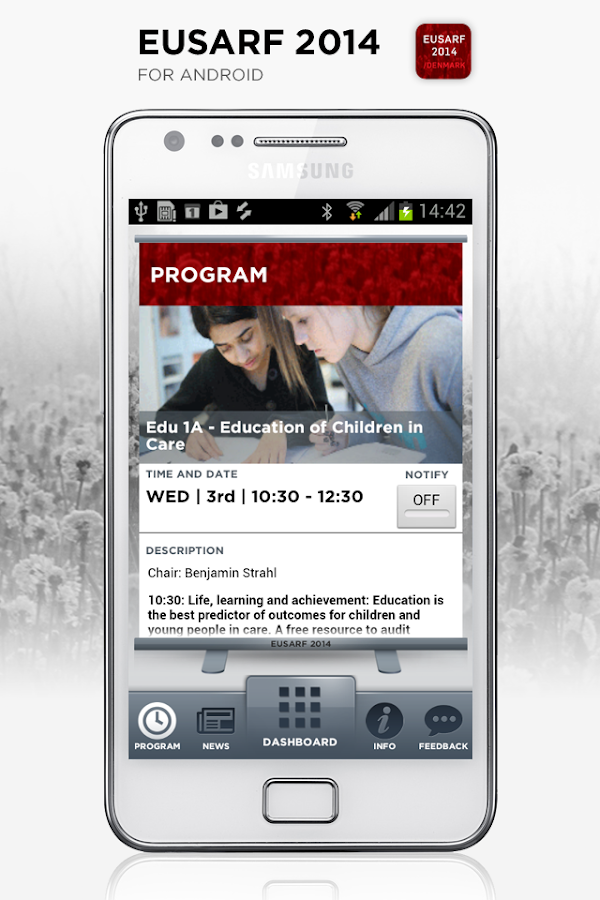 EUSARF 2014- screenshot