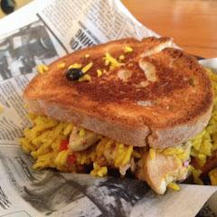 The GF Jamaican jerk sandwich on Udi's bread