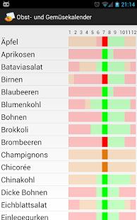 Obst- und Gemüsekalender - screenshot thumbnail