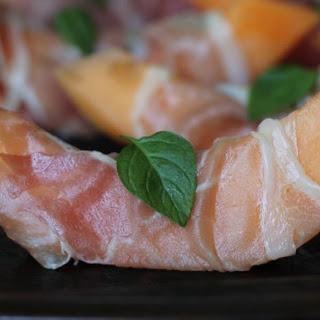 Prosciutto & Mint Wrapped Melon
