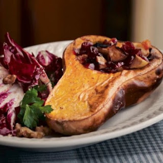 Baked Squash With Radicchio Salad