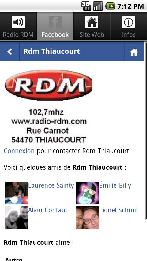 Radio RDM- screenshot