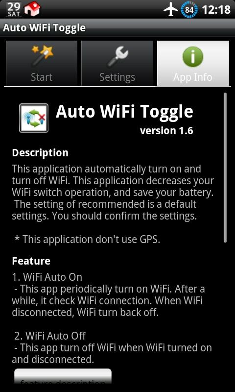 Auto WiFi Toggle- screenshot