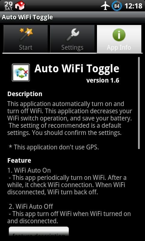 Auto WiFi Toggle - screenshot