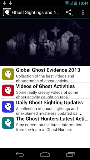 Ghost Sightings and News