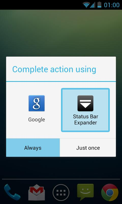 Status Bar Expander- screenshot