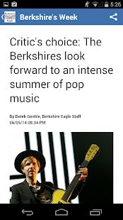 Berkshire Eagle - screenshot thumbnail