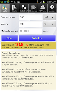 Solution Calculator Lite - screenshot thumbnail