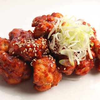 Korean Fried Cauliflower (Vegan).