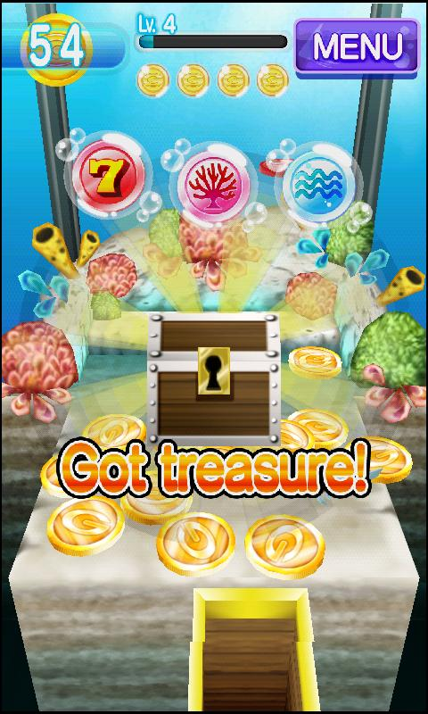 Coin Drop AQUA Dozer Games - screenshot