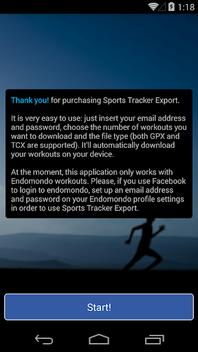 Sports Tracker Export