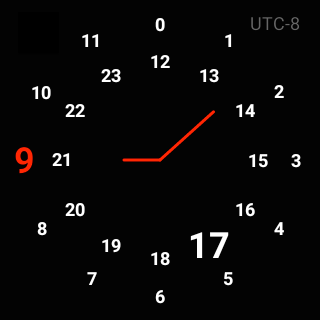 UTC WatchFace for Android Wear